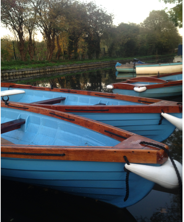 Newly refurbished boats in the water